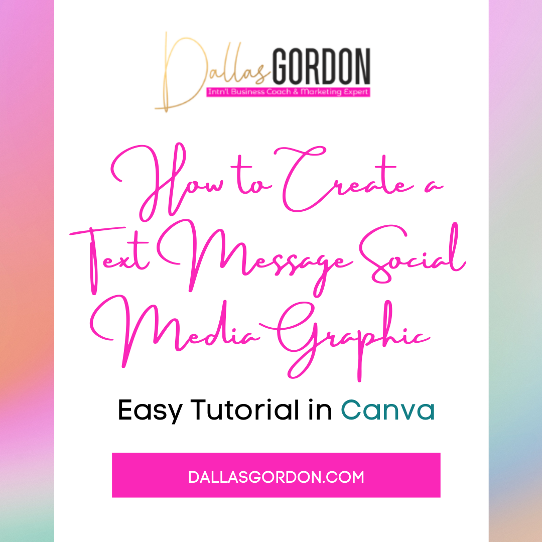 How to Create a Text Message Social Media Graphic in Canva: Easy Tutorial